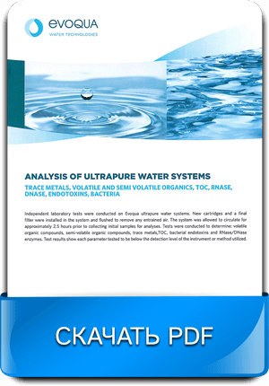 Водоочистка для лабораторий - Анализ очищенной воды